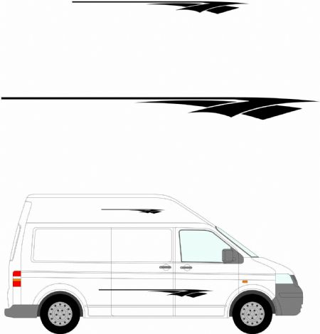 (No.242) MOTORHOME GRAPHICS STICKERS DECALS CAMPER VAN CARAVAN UNIVERSAL FITTING
